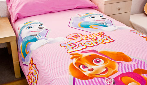 SET DUVET cover set 2 pieces 100% cotton - Paw patrol - 04 rose