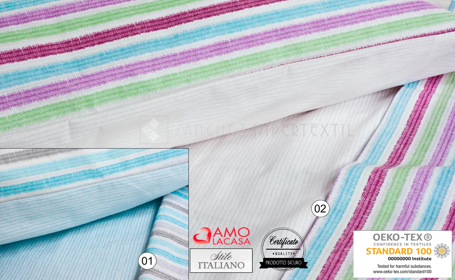 Bed linen set 3 pieces CARIT by Amo la Casa