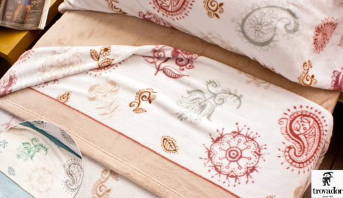 Set of winter coral linens - ANKARA - TROUBADOUR