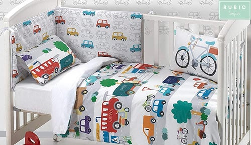 Nordic 2 piece set 100% cotton -  Rubio hogar - cars
