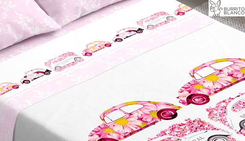 3-piece bedding set - 103 WV Beetle Rosa