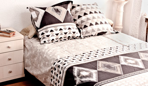 Duvet cover + 2 cushion covers - 100% cotton - KANO
