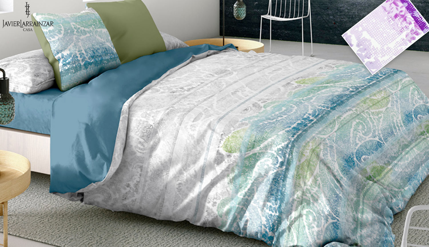 Duvet cover set 3 pieces - Kashmir - Javier Larrainzar