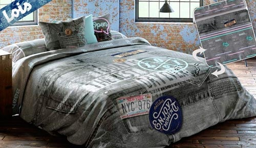 -Cowboy - LOIS reversible duvet cover set