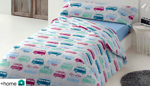 -Caravan - 3-piece duvet cover + HOME