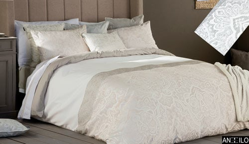 2-piece jacquart - duvet cover set BETANI - ANTILO