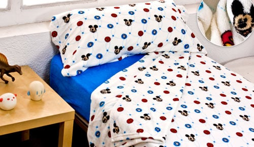 Child bed linen set of winter coral - MICKEY CHIC - EXTRASOFT