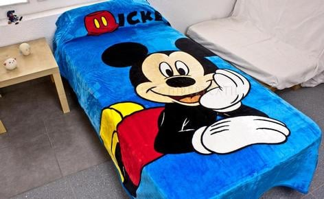 Couverture touch Extrasoft MICKEY CHIC lit 90 cm.