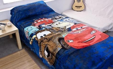 Children blanket extrasoft touch CARS VELOCITY bed 90 cm.