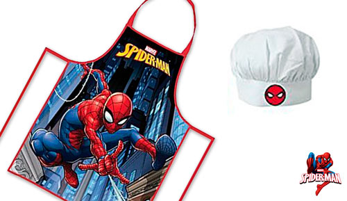 CONJUNT DAVANTAL + GORRA - COOKSET - 35 SPIDERMAN