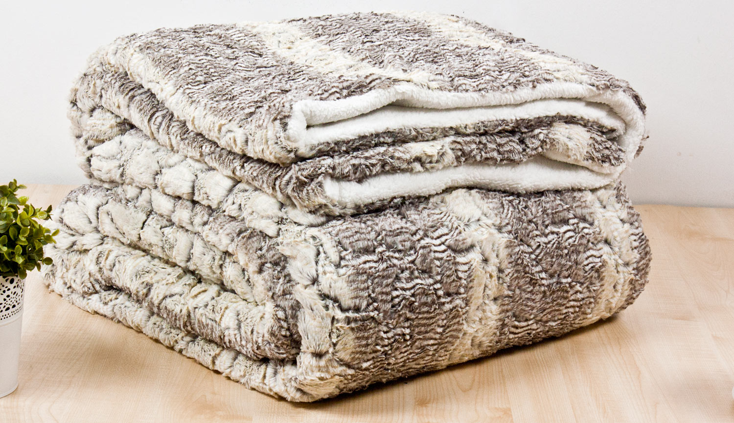 Quilt / Blanket 3 Sherpa 220X240cm - Engraving 14