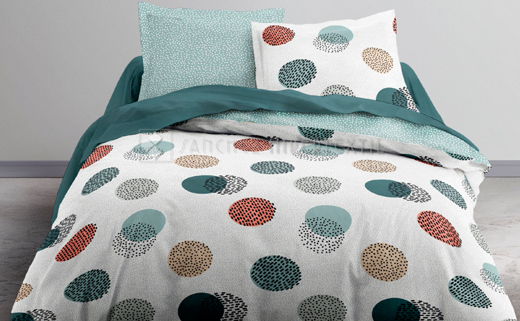 Duvet cover + 2 pillowcases 100% cotton Today Green