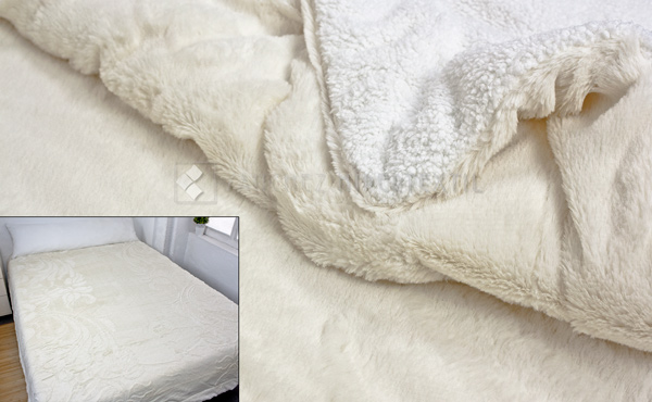 Quilt / Blanket VISON SHERPA CRUDO 220x240 cm. for bed 135/150 cm.