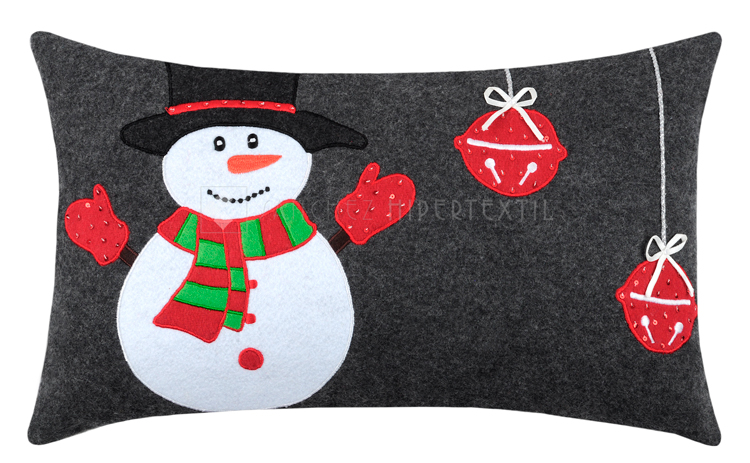 Complete wool cushion for Christmas Snowman 30x50 Cm