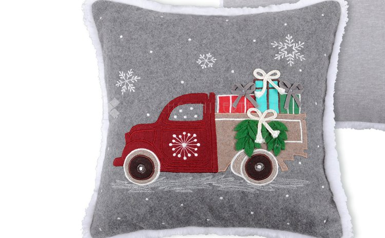 COMPLETE WOOL CUSHION FOR CHRISTMAS Cadeaux 40x40 Cm