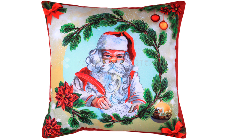 COMPLETE CUSHION FOR CHRISTMAS Jinglebells Rouge 40x40 Cm
