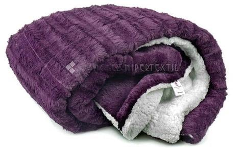 QUILT / BLANKET SHERPA Purple Bed 90 - 135/150CM.
