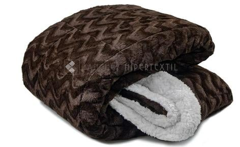 QUILT / BLANKET SHERPA Brown 90 - 135/150CM.