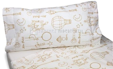 3-piece sheet set -MON PETIT- 60 X 120cm