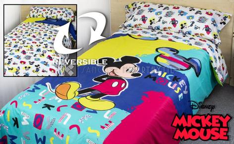 DUVET COVER 2 PIECES MICROFIBER DISNEY MICKEY PATCH