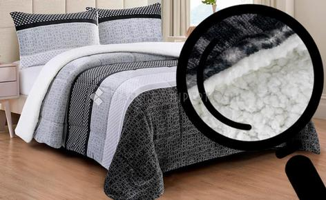 QUILT WITH SHERPA VALEA HOME SORRENTO