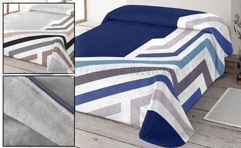 NATURA SOFT DIMS BLANKET 10224 - DIAGONAL STRIPES