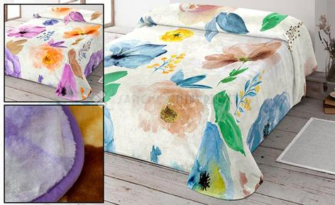 NATURA SOFT DIMS BLANKET 10223 - FLORAL