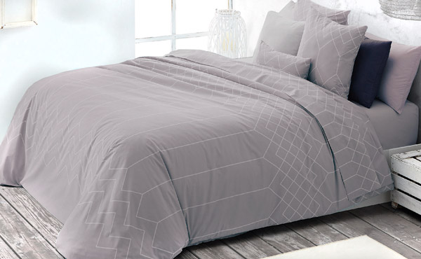 Set Duo duvet cover 200 threads MASSON