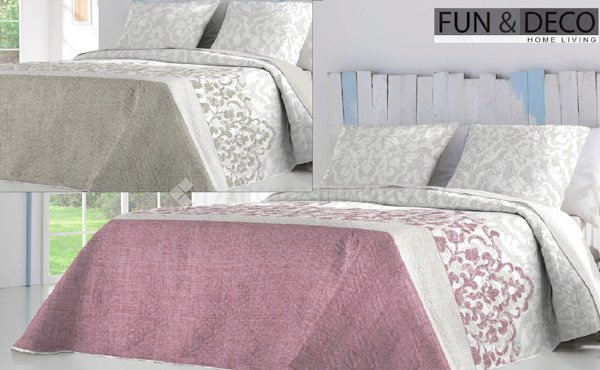 Reversible bouti bedspread SHARON by Fundeco