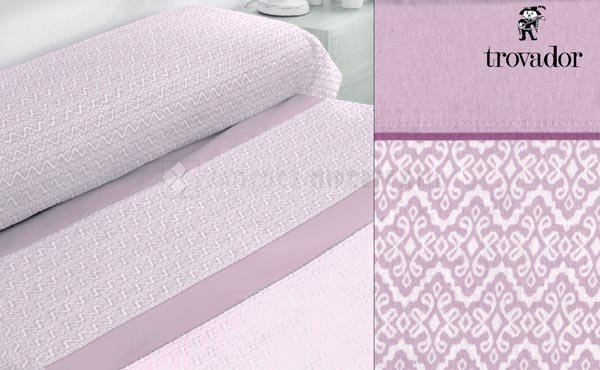 Winter sheet set flannel bed 150 cm. EDINBURGH of Trovador