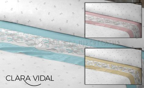 Bedding set 3 pieces 100% cotton NABAL by Clara Vidal.