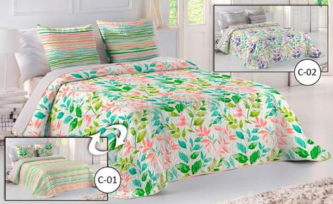 Reversible Boutí + Pillowcase - CORINA - by Fun & Deco.