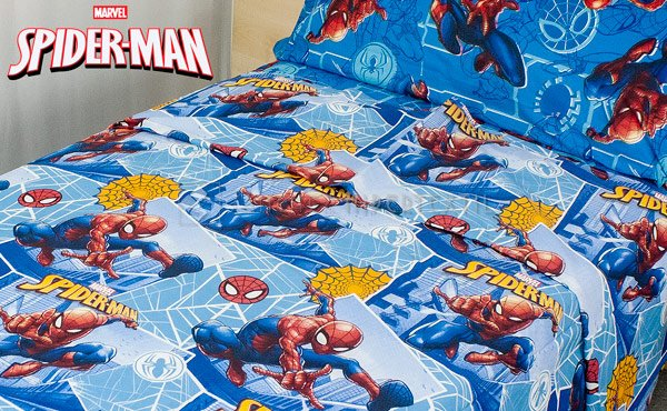 Set of sheets 3 pieces bed 90 cm. 100% cotton SPIDER-MAN AYM 032