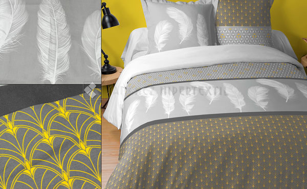 Duvet cover + 2 cushion covers 100% cotton IZUMI