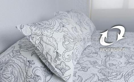 Reversible Boutí + Pillowcase PILSEN by Miracle Home.