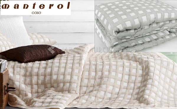 Reversible bedspread CROSS 688 by Manterol