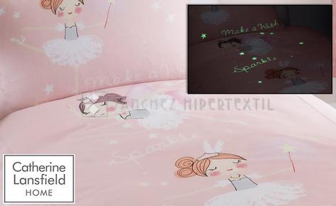 Fluorescent 2 pieces Duvet cover MAKE A WISH by Catherine Lansfield.