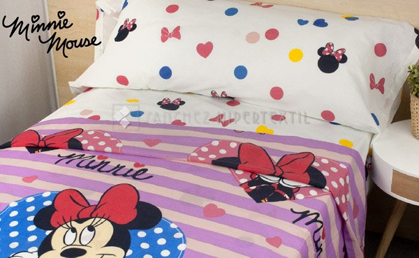 Children's sheet set 3 pieces 100% cotton MINNIE LENZ 2913