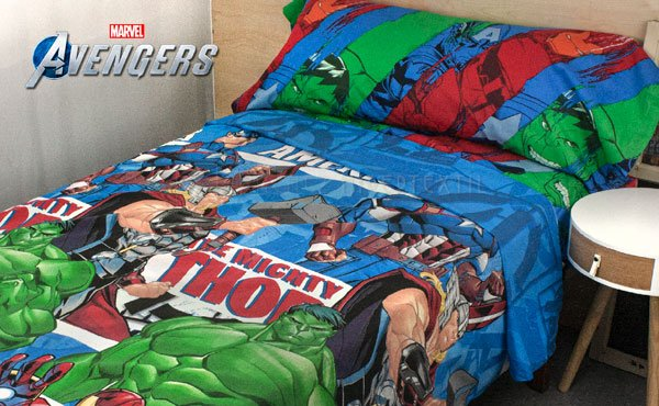 Set of sheets 3 pieces 100% cotton AVENGERS LENZ 2910