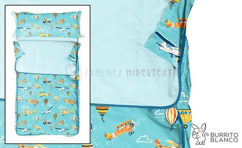 Children's Nordic sleeping bag + bag -171- AVIONS by Burrito Blanco.