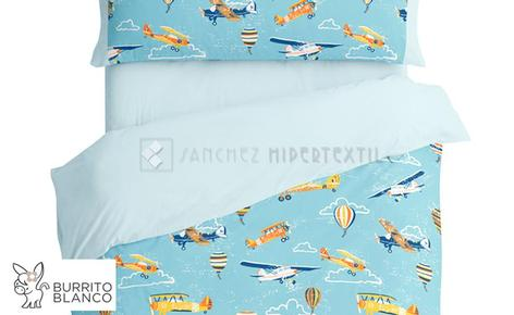 Duvet cover set 3 pieces + bag -171- AVIONS by BURRITO BLANCO.