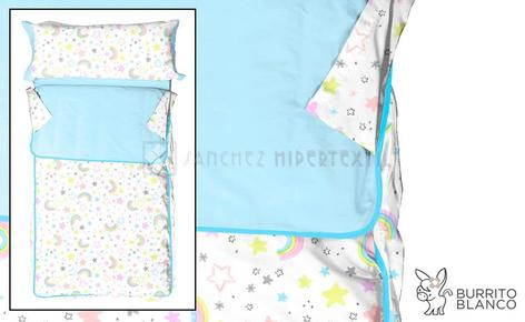 Children's sleeping bag + bag -170 - RAINBOW by Burrito Blanco.