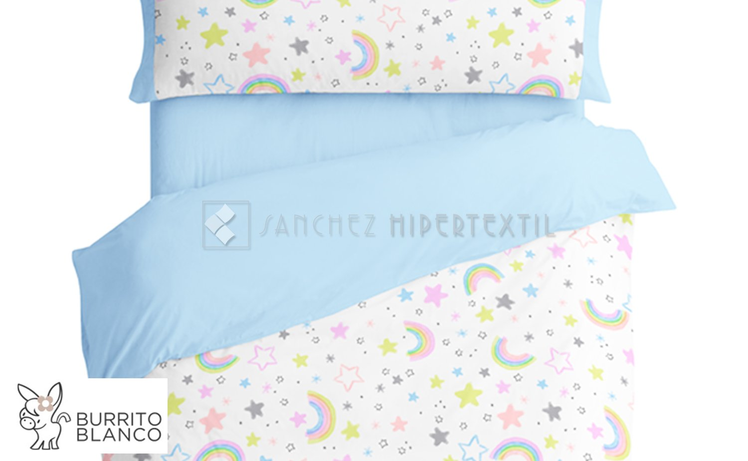 Duvet cover set 3 pieces + bag - 170 - RAINBOW by BURRITO BLANCO.
