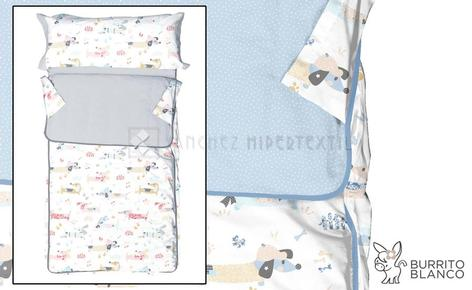 Children's sleeping bag + bag -169 - DOGS by Burrito Blanco.