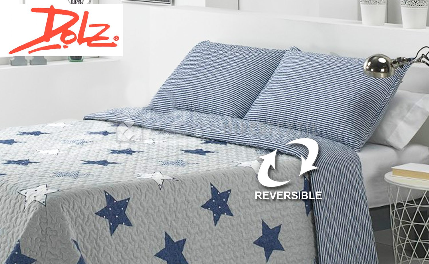 Boutí + Reversible Pillowcase HALLEY by Dolz.