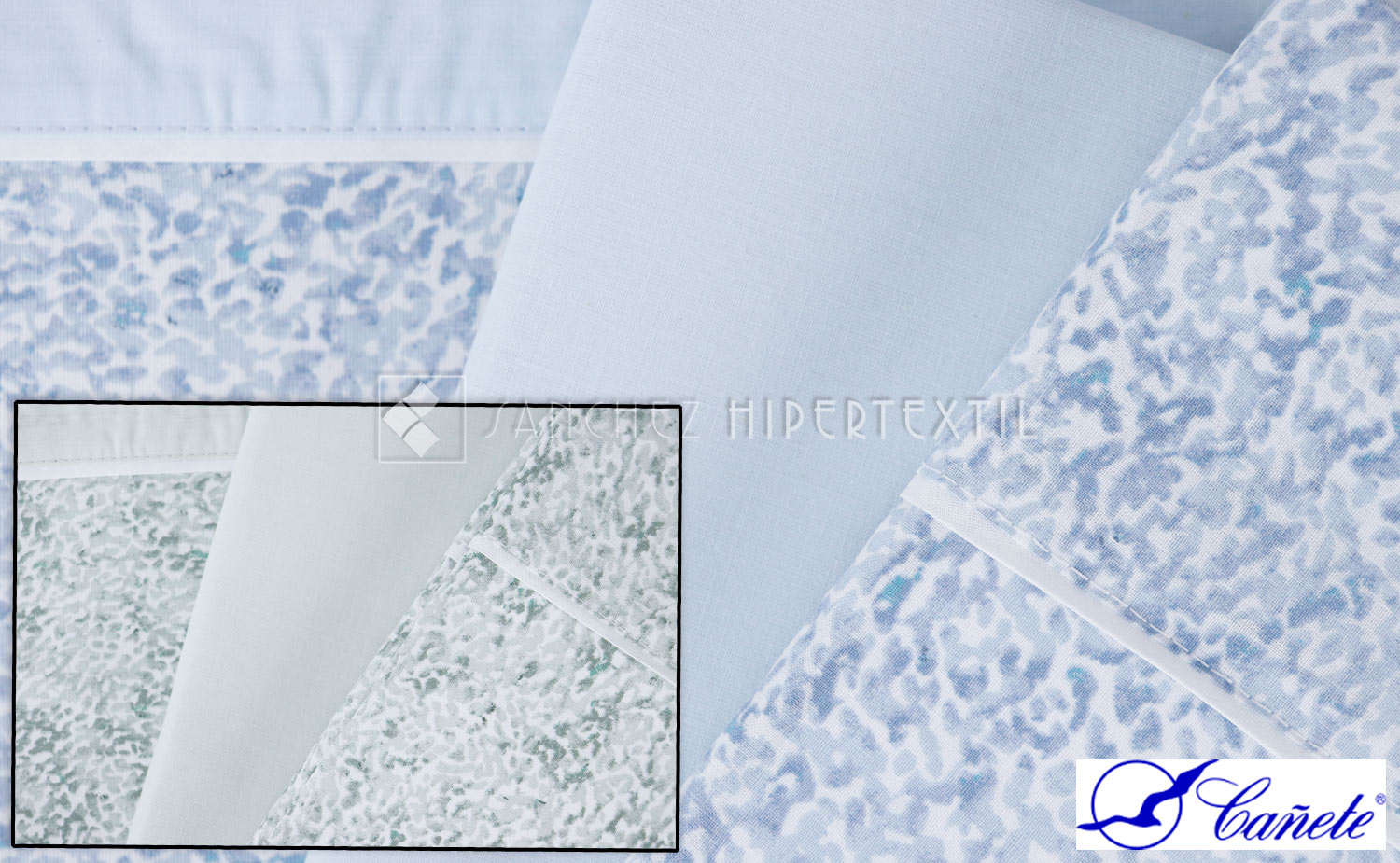 Bedding set 3 pieces 100% Cotton PALA  by Cañete.