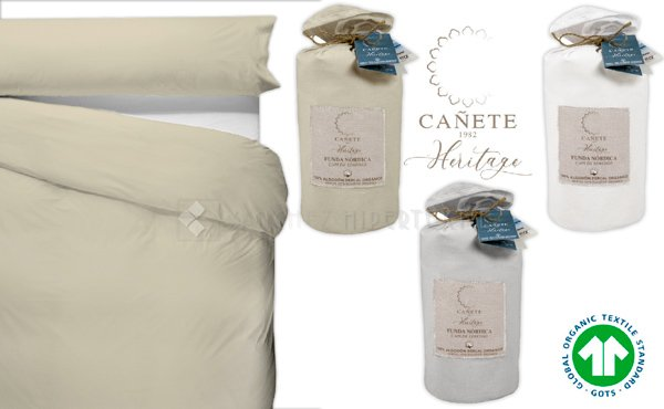 2-Piece Duvet Cover Organic 100% Cotton Percale Cañete