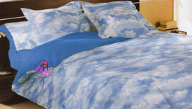 Cover duvet bed 135cm. clouds by Pierre Cardin