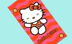 Toalla de Playa de Hello kitty Mod: Sunset