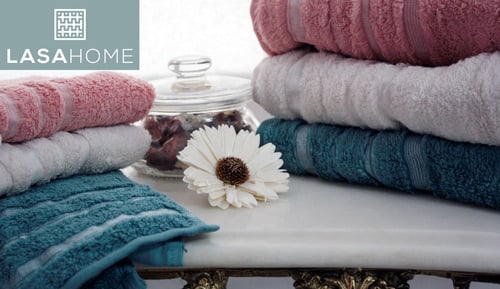 Towel - LASA HOME - PEARL - 100% cotton